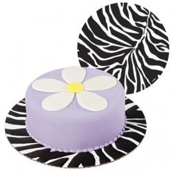 Tårtbricka, zebra (3 st)