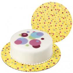 Tårtbricka, sweet dots (3 st)