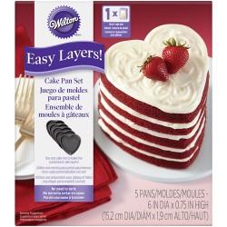 Easy Layer - Hjärta, bakform (5 st)