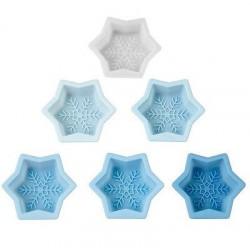 Snowflakes, 6 st bakformar i silikon