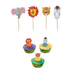 Djungeldjur, muffinsflaggor