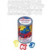 A-B-C och 1-2-3, 50 st utstickare