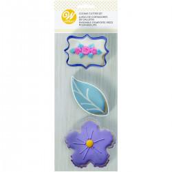 Floral, 3 st utstickare
