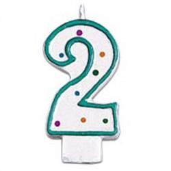 2, grönt sifferljus