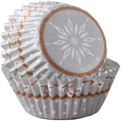 Silver Snowflake, 100 st små muffinsformar