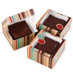 Gift Box Kit, 3 st brownie-askar