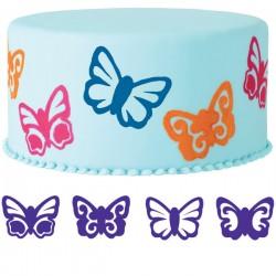 Fjärilar, 4 st stämplar
