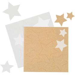 Stjärna - Guld och Vita, ätbara dekorationer