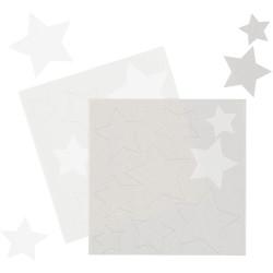Stjärna - Silver och Vita, ätbara dekorationer