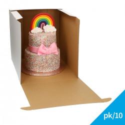 Tårtkartong i wellpapp, ca 32*32*32 cm (10 st)
