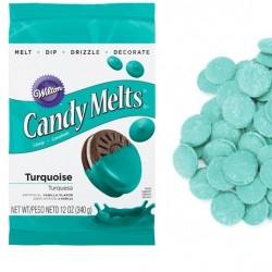 Candy Melts, turquoise 340g (vaniljsmak)