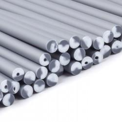 Klubbpinnar 15 cm, 50 st - silvergrå (Yo)