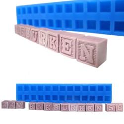 Byggklossar m bokstäver, silikonform