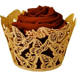 Butterflies, aprikos-rosa cupcake wraps
