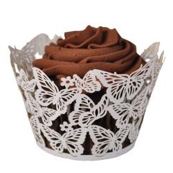 Butterflies, vita cupcake wraps