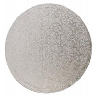2:a sort - Rund tårtbricka, silver 40 cm
