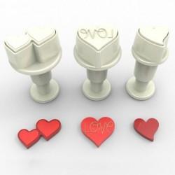 Stylish Heart m ejector, 3 st mini
