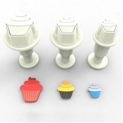Cupcake m ejector, 3 st mini