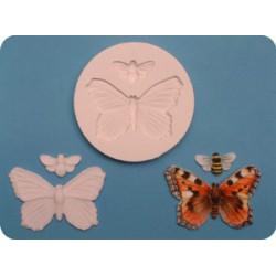 Fjäril & bi, silikonform