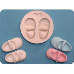 Babyskor - två, 3D (silikonform)