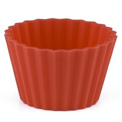 Knäckform, 40 st röda (silikon)