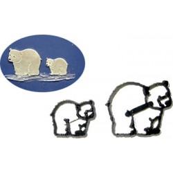 Isbjörnar, 2 st utstickare/embossers