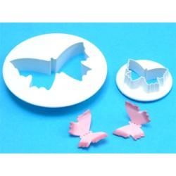Fjäril, 2 st utstickare