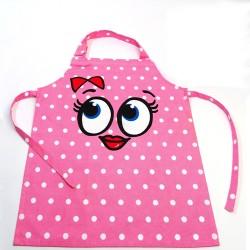 Happy Baking, rosa barnförkläde