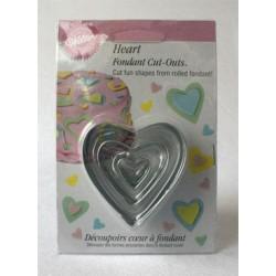 Hjärta, 3 st utstickare