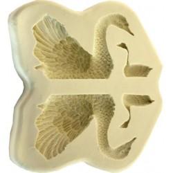 Svan och svanunge, 3D